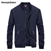 NaranjaSabor Men's Brand Clothing 2017 Autumn Mens Casual Jacket Mens Windbreaker Spring Slim Men Coats Male Fashion Outwear 4XL