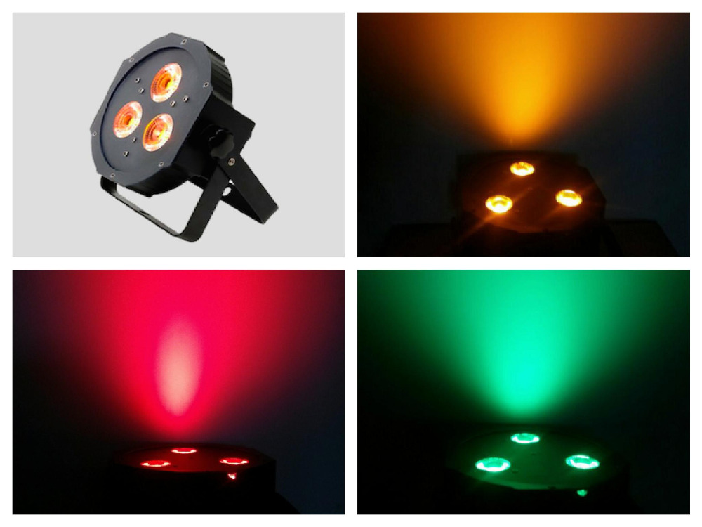 20pcs/lot, LED Flat Par light 3x9w RGB Tri 3in1 or 3x12w RGBW 4in1 quad or 3x15w RGBWA 5in1 Slim wedding lighting stage disco<br>