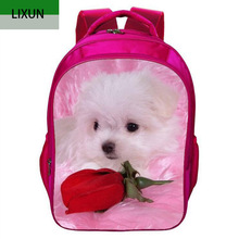 2017 Design Kids Backpack 3D Cute Dog High Quality School Bags In Primary School for Girls Boys Children Waterproof Backpacks