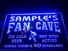 DZ064- Name Personalized Custom Basketball Fan Cave Man Room Bar Beer Neon Sign hang sign home decor shop crafts(China)
