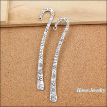 18pcs Charm vintage bookmark Pendant Tibetan silver Zinc Alloy Fit European Necklace DIY Metal Jewelry Findings(China)