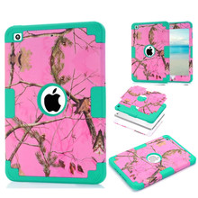 For iPad Mini 3 Case Cover Pink Camouflage Tree Impact 3 in 1 Hybrid Silicone Plastic Armor Combo Shell Case for iPad Mini 2 3 1(China)