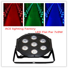 Hot selling Black LED Par Can 64 LED Par64 LED Tri 7 RGB 7x 9W 3in1 chandelier factory directly sale(China)