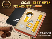 Original Cohiba Golden Knight Metal mini ashtray cigar cutter High quality cigar tube beautiful gift business gift sets