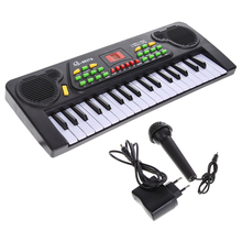 Electronic 37 Keys Music Toy Piano with External Wired Microphone Fun Educational Musical Keyboard Kid Electric Piano Toy