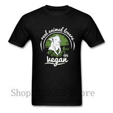 Mens madrid Funny Real animal lovers are Vegan T Shirt Custom 2017 Vegan print Boyfriend's T-shirts For real male tshirt cozinha(China)