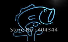 LB795- LARGE MOUTH BASS Fishes Display   LED Neon Light Sign   home decor shop crafts