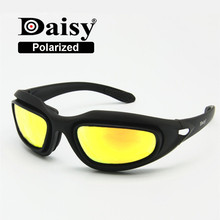 Daisy C5 Polarized Army Goggles, Military Sunglasses 4 Lens Kit, Men's Desert Storm War Game Tactical Glasses Sporting(China)