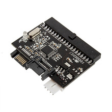 New 1 piece Hard Disk Driver Bidirectional 2 in 1 IDE to SATA Converter / SATA to IDE/PATA Adapter Bridge Board,UltraATA 100/133