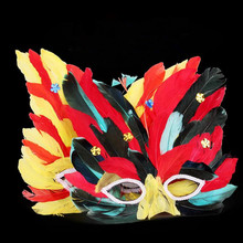 2017 New Sexy Cat Face Butterfly Feather Mask Kids Adults Half Face Mask Performance Props Festival Masquerade Party