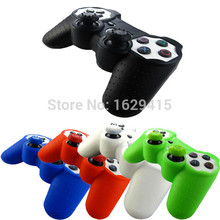IVYUEEN 2 in 1 Silicone Gel Rubber Skin Case + 2x Thumb Sticks Grips Cap Cover For Sony PlayStation Dualshock 3 PS3 Controller(China)
