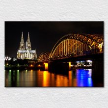 Canvas prints painting tourist attractions photos from koln dom Cologne, Germany, a city landmark buildings Catholic Cathedral(China)