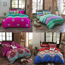 Bohemian Mandala Duvet Cover with Pillow Case Quilt Cover Bedding Set All Sizes Free shipping 4pcs bed set with high quality