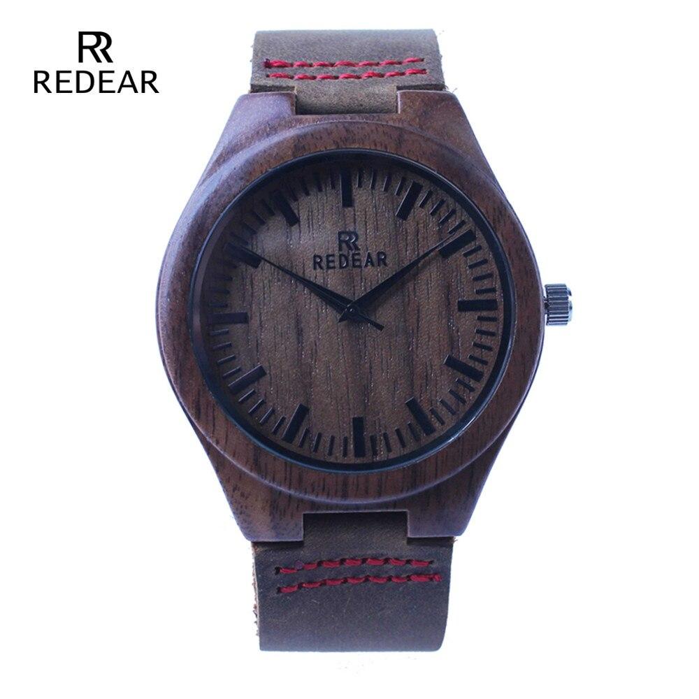 New Arrival Walnut Wooden Watch For Men and Women With Genuine Cowhide Straps Round Quartz  Wristwatch <br><br>Aliexpress