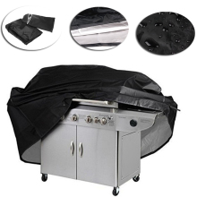 Black Waterproof BBQ Accessries BBQ Grill Cover Outdoor Anti Dust Charcoal Protector For Gas Electric Barbecue Bag(China)