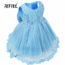 3-24M Infant Baby Toddler Baptism Girls Floral Lace Princess Wedding Bridesmaid Formal Pageant Easter Party 1st Birthday Dress(China)