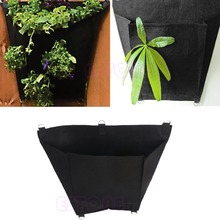 Black D-Shape Fabric Pots Plant Pouch Round Aeration Pot Container Grow Bag