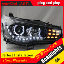 Auto Clud Car Styling for Mitsubishi Lancer EX Headlights LED Headlight DRL Lens Lancer EX Double Beam H7 HID Xenon bi xenon len