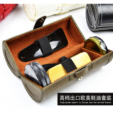 Genuine leather clean nursing care six pieces set leather clothing shoe oil shoe brush shoes shoe horn set(China)
