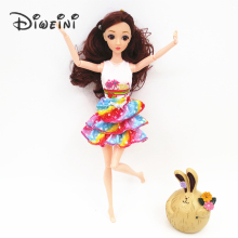 2017 Newest Princess Doll Outfit Beautiful Party Clothes Top Fashion Dress For barbie doll accessories Best Girls Gift Baby Toys