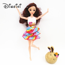 2017 Newest Princess Doll Outfit Beautiful Party Clothes Top Fashion Dress For barbie doll accessories Best Girls Gift Baby Toys(China)