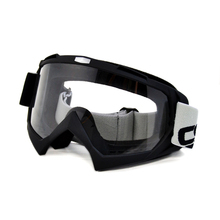 BJMOTO Motorcycle Goggles Adult Motorcycle Motocross Bike Cross Country Flexible Goggles Clear Lens Motorbikes Glasses