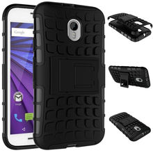 R For Motorola Moto G3 XT1541 Phone Case Hybrid Hard Shockproof Armor Stand TPU+PC Back Cover For Moto G3 G 3rd Gen Case Coque(China)