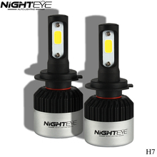 NIGHTEYE COB Chip H4 H13 9004 9007 Hi-lo Beam H7 9005 HB3 9006 HB4 H11 H9 H1 H3 9012 Auto LED Headlight Bulb 9000lm 12V 6500k(China)