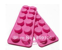 Wholesale/retail,free shipping,12 hole Silica gel cake mold small round /bottle cap /chocolate /biscuit mould26*9.5*1.5CM(China)