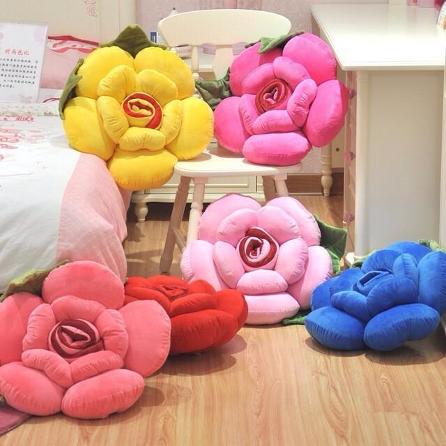 Цветы из ткани для подушек своими руками фото 31