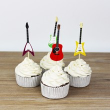 Musical Instruments party cupcake toppers picks decoration for Kids Birthday party Cake favors Decoration supplies