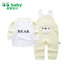 Newborn Baby Clothes Hot Baby Brand Suit Gift Fashion Outfit Long Sleeve 2017 New Autumn Infant Boys Girls Clothes Sets Suit