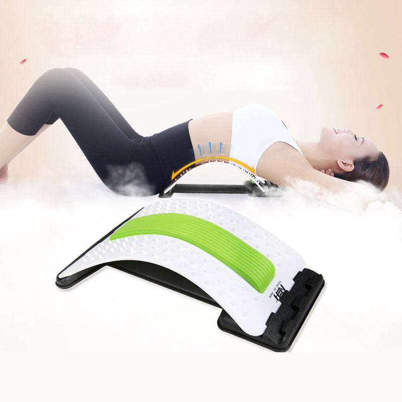 Lumbar Acupuncture Massage Stretcher Stretching Magic Support Waist Back Neck Relax Mate Device Spine Pain Relief Chiropractic <br>