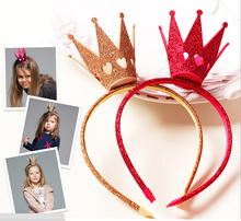 Retail 1 pc 2017 Fashion Gold Crown Headband Adorable Princess Girls Wedding Crown Headband