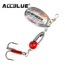 ALLBLUE 5pcs/lot 2# 3# 4# Metal Bullet Spinner Bait Fishing Lure Longcast For Fishing Artificial Lure Multi Size Bass Bait Peche(China)