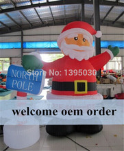 6m giant advertising inflatable Christmas santa clause balloon for Christmas ornament