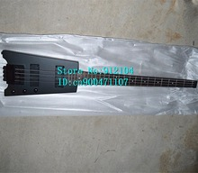 free shipping new 4 strings headless electric bass guitar in matte black with basswood body  F-1058+foam box