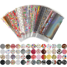 52 Sheet 20cm*4cm Mix Color Transfer Foil Nail Art Flower Design Sticker Decal For Polish Care DIY Free Shipping Nail Art WY209(China)