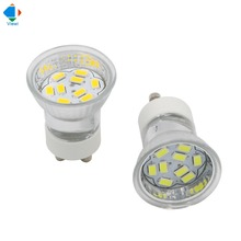 5x 12v led spotlight gu10 bulb lamp light 12 volt smd 5730 9 leds glass shell small spot lighting for under kitchen cabinet