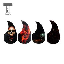 Tooyful 4 Pieces Celluloid Guitar Scratch Plates Pickguard for Acoustic Guitar Replacement Accessory Decoration 180 x 99mm