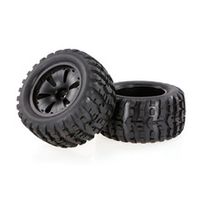 2pcs 2.75Inch 120mm RC Car Part Truck Wheel Rim and Tire for 1/10 HPI Savage XS Flux MT LRP Rubber Rocks Tyres RC Rock Crawler