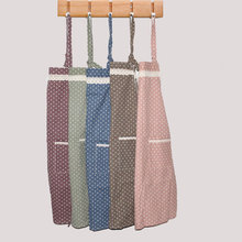 Hot Sale Cute Wave point waterproof Kitchen Bib Apron for woman Pinafore Chef Restaurant Cooking Tool delantal
