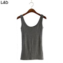 Fitness Skinny Tank Top 2017 New Women Tight Bustier Top Skinny T-Shirt Belly Casual Fashion Tops Vest U Tank Tops