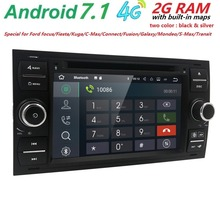 "4G Android 7.1 7"" DAB+ DVD Radio Player GPS sat nav Navigatio for FORD TRANSIT FOCUS C-MAX S-MAX FIESTA GALAXY FUSION WiFi 2 din(China)"
