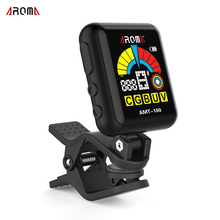 AROMA AMT-100 2 in 1 Clip-on Electronic Guitar Tuner with Built-in Battery USB Cable for Guitar Rechargeable Rotatable