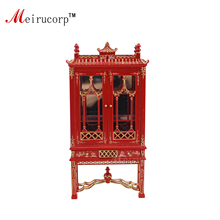 Dollhouse 1:12 scale Miniature furniture Red painting Exquisite Display cabinet
