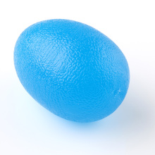 Blue Egg Shaped Fingers Hand Relaxing Gel Exercise Massage Ball Massagers