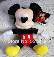 Free shipping 1pcs 28cm=11inch mickey mouse plush soft toys,mickey mouse gift toys for son&boys&baby
