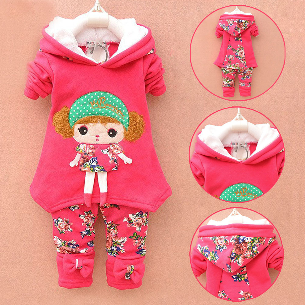baby girls lamb wool suit warm winter thicken clothing sets childrens hoodies set kids clothes set children christmas outfit<br><br>Aliexpress