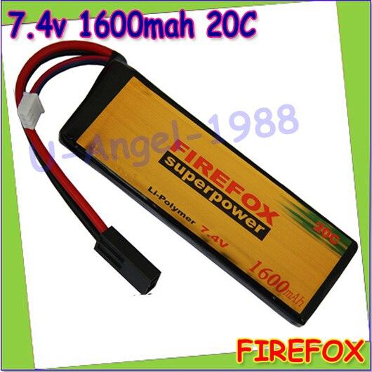 wholesale 1pcs 100% Orginal FireFox 7.4V 1600mAh 20C Li Po AEG Airsoft Battery F2R16 Drop shipping<br><br>Aliexpress